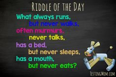 Do you know the answer? #riddle #fun #kids    Answer: A river
