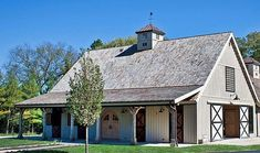 Barns - Projects Photo Galleries for Ponderosa County, Horse, Gambrel, Combination, & Prairie Carriage Barns Horse Barn Plans, Pole Barn House Plans, Pole Barn Homes, Horse Barns, Cabin Plans, Bank Barn, Gambrel Barn, Shed With Porch, Farm Shed