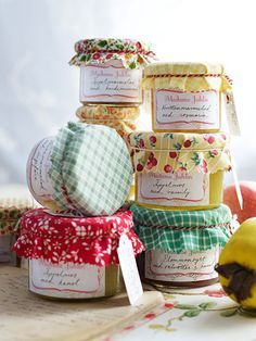Homemade goodness...cute favors/gifts for tea parties