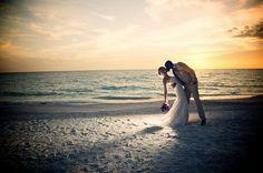 # sunset beach wedding # destination wedding