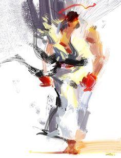 Street Fighter art by *zhuzhu Ryu Street Fighter, Street Fighter Alpha 3, Capcom Street Fighter, Super Street Fighter, Mortal Kombat, Character Art, Character Design, Street Fighter Characters, Anime Comics