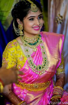 Exclusive Collection of Indian Celebrity Sarees and Designer Blouses Indian Wedding Jewelry, Indian Bridal, Bridal Jewellery, Jewellery Photo, Diamond Jewellery, Diamond Necklaces, India Jewelry, Latest Jewellery, Antique Jewellery