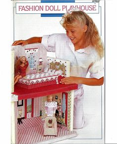 Fashion Doll Playhouse Barbie Plastic Canvas Pattern Annies Attic 87R50. $28.00, via Etsy.