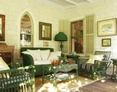pintrest beac porches   wicker furniture on porch