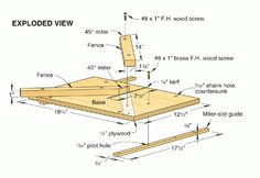 Excellent Table Saws, Miter Saws And Woodworking Jigs Ideas. Alluring Table Saws, Miter Saws And Woodworking Jigs Ideas. Miter Saw Table, Table Saw Jigs, Router Table, Best Circular Saw, Woodworking Saws, Woodworking Ideas, Wood Magazine, Palette, Wood Working For Beginners