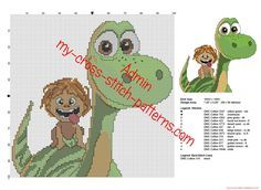 Disney The Good Dinosaur free cross stitch pattern