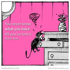You never know what you have till you've lost it. #AlysonNoel #lostsockmemorialday #muttscomics #mutts #quotes