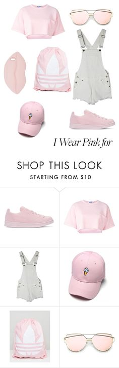 """""""Untitled #6"""" by mika27092012 ❤ liked on Polyvore featuring adidas Originals, Steve J & Yoni P, adidas, STELLA McCARTNEY and IWearPinkFor"""