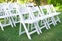 white wooden folding chairs