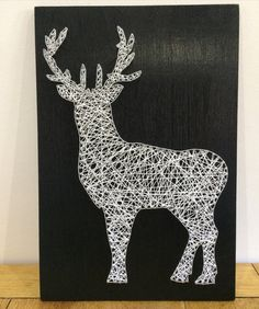 Full stag string art by LsdStringart on Etsy