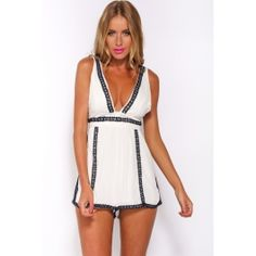 Out Of My Head Romper White