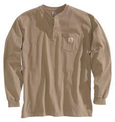 Carhartt Workwear Henley Shirts for Men - Long-Sleeve - Desert - 3X