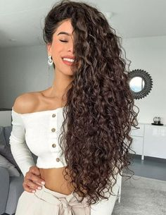 If you are blesses with naturally curly hair then you can make your look more beautiful in the year of Because every young and celebrity women want to improve the beauty of hairstyle. With the Long Curly Hairstyles you can make the different style on Curly Hair Styles, Cute Curly Hairstyles, Oval Face Hairstyles, Headband Hairstyles, Diy Hairstyles, Medium Hair Styles, Natural Hair Styles, Asian Hairstyles, Medium Curly