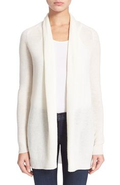 Theory 'Ashtry J' Open Front Cashmere Cardigan