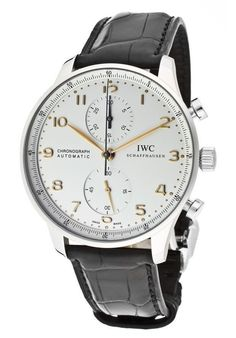 Elevenfy | NEW IWC Portuguese Automatic Chronograph Silver Mens Watch IW371445