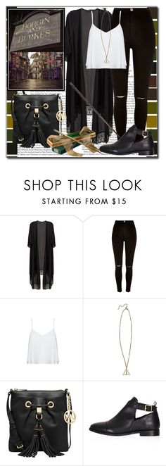 """""""The Wizarding Word Of Harry Potter"""" by ana-a-m ❤ liked on Polyvore featuring River Island, Alice + Olivia, MICHAEL Michael Kors and Topshop"""