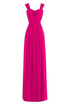 Dora Bridal Womens Chiffon Bridesmaid Long Prom Evening Gown Fuchsia ** Find out more about the great product at the image link.