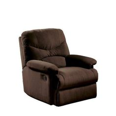 ACME 00632 Arcadia Recliner, Oakwood Chocolate Microfiber  Chocolate #Microfiber #Recliner.  Features : Attractive, comfortable recliner chair from Acme; great for use in smaller rooms *Sturdy hardwood frames and arm rests; stain-resistant microfiber upholstery...