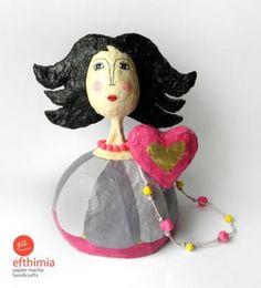 """""""Black-hair girl figure"""" by Efthimia Kotsanelou"""