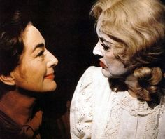 Joan Crawford & Bette Davis in publicity still for What Ever Happened to Baby Jane? (1962)