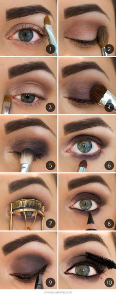 Brown Smoky Eye Makeup Tutorial with Full Brows - Schönheit Br. Brown Smoky Eye Makeup Tutorial with Full Brows - Schönheit Brown Smoky Eye Makeup Tutorial with Full Brows Purple Smokey Eye, Smoky Eyes, Easy Smokey Eye, Smokey Hair, Black Smokey, Perfect Makeup, Love Makeup, Makeup Ideas, Green Makeup