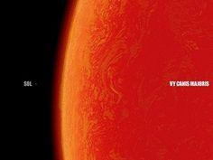 Canis Majoris, biggest known star.