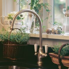Traditional kitchen taps by Perrin & Rowe for The English Tapware Company, Australia | The English Tapware Company