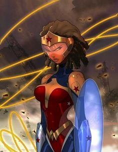 Wonder Woman sister nubia Created in Artist from Chocolate city comics updated 2017 Black Anime Characters, Comic Book Characters, Comic Books Art, Comic Art, Black Love Art, Black Girl Art, Art Girl, Wonder Woman Kunst, Wonder Woman Art