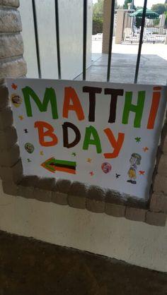 My son Matthias 3rd Bday party. Made by Alexandra De Vega