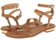 BC Footwear - Come Out And Play  Price: $48  Add these stylish buckled sandals to your ensemble for a fun look. Buckle at ankle closure. Man-made upper with buckle detail at top strap. Man-made lining. Lightly padded footbed. Stacked heel. Man-made sole. Imported. Measurements: Heel Height: 1 2 in