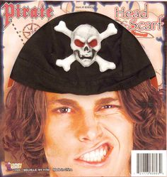 costume accessory: doo rag pirate Case of 5