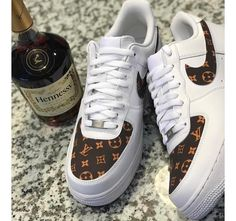 Custom LV Air Force 1 Low White