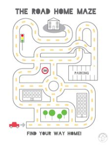 printable mazes easy from mr printables. use this template, a magnet and a paperclip for a magnetic maze game - could use the car on here attached to the paperclip Mazes For Kids Printable, Mr Printables, Free Printable, Kids Mazes, Printable Coloring, Maze Worksheet, Transportation Unit, Maps For Kids, Kindergarten Worksheets