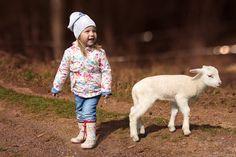 Portrait of young girl with farm animals little cute Baby Sheep, Farm Animals, Children Photography, Little Girls, Portrait, Cute, Style, Fashion, Moda