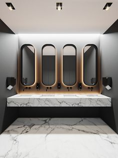 bathrooms Concept main idea is a direct and convenient connection between the two wings of the floor Office Interior Design, Bathroom Interior Design, Office Interiors, Home Interior, Interior Livingroom, Interior Plants, Interior Architecture, Wc Design, Toilet Design