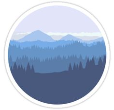 Mountain ridges stretch to the horizon.  / Forest trees grow wild.  / A place for the adventures we dream about. • Also buy this artwork on stickers, apparel, phone cases, and more. #outdoor #adventure #wild #wanderlust #travel #nature