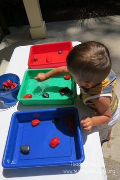 One Inch Water Play by Teach Preschool
