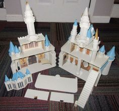 DISNEY WORLD CINDERELLA CASTLE MONORAIL PLAYSET, CASTLE ONLY, NO ACCESSORIES #DISNEY