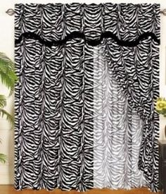 A Zebra Curtains And Other Item For Your Home