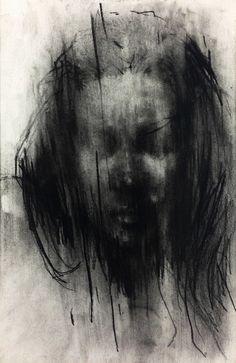 Artist KwangHo Shin  conte on paper