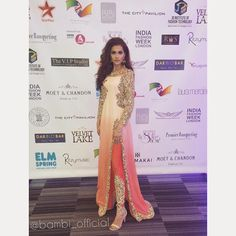 """""""India Fashion Week London VIP Launch Wearing a custom made outfit by India Fashion Week, London Fashion, Pakistani Outfits, Indian Outfits, Indian Clothes, Suit Fashion, Modest Fashion, Modest Clothing, Clothing Styles"""