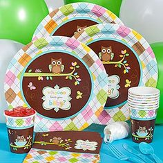 Details About HAPPI TREE   Luxury Range Baby Shower Party Tableware U0026  Decorations Unisex Owls | Baby Shower Themes, Boys And Ranges