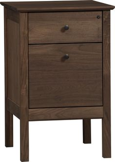 Ainsworth Walnut Single Filing Cabinet  | Crate and Barrel