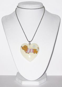 Little Dachshund Puppy Necklace by softbluecries on Etsy, $15.00