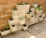 cinderblock planters