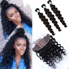 Silk Base Frontal With Bundles 8A Loose Wave Brazilian Virgin Hair With Frontal Closure Bundle Lace Frontal Closure With Bundles - Eseewigs.com