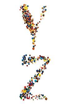 Alfabeto realizado com botões | Y Z