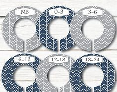 Blue and Grey Closet Dividers