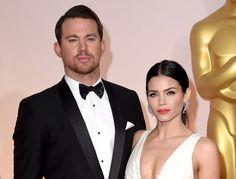 Channing Tatum, junto a su esposa.