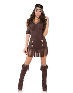 Raven Indian Adult Womens Costume